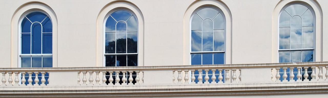 First floor balustrade at Park Crescent.
