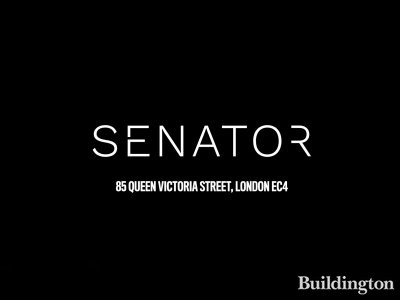 Logo of the Senator office development at 85 Queen Victoria Street in the City of London EC4.