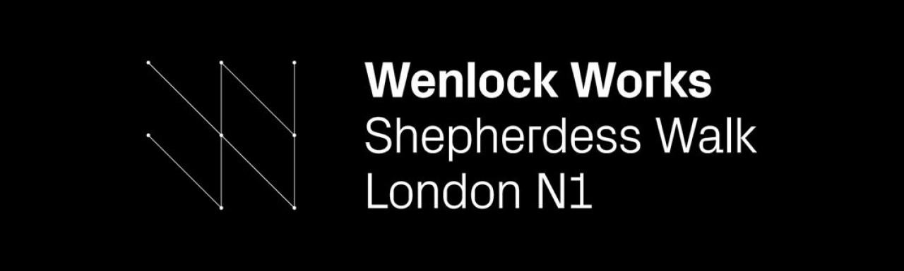 Logo of the Wenlock Works development in Shoreditch, London N1.