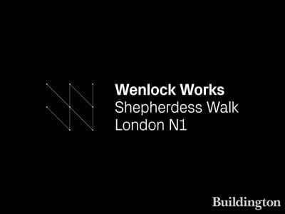 Logo of the Wenlock Works development in Shoreditch, London N1.