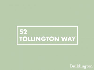 52 Tollington Way development in Islington, London N7.