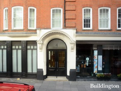 Entrance to Chanterey House at 4 Eccleston Street in London SW1.