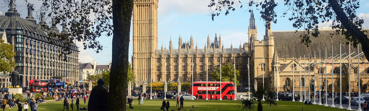 The Palace of Westminster, view from Parliamen Square