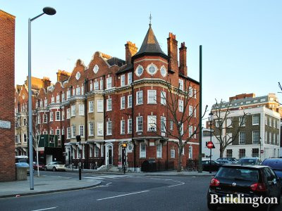 59 Draycott Place on the corner of Sloane Avenue.