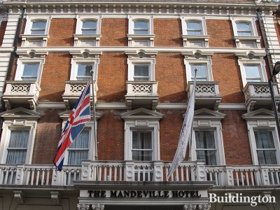 The Mandeville Hotel at 6-14 Mandeville Place in Marylebone, London W1.