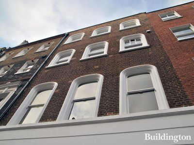 Front elevation of 9 Bentinck Street building in Marylebone, London W1.