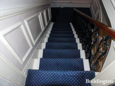 Stairs at St James's Court at 75 Gloucester Terrace.