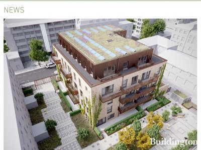 Screen capture of ECD Architects website of the 2 Ashbridge Street development ecda.co.uk.