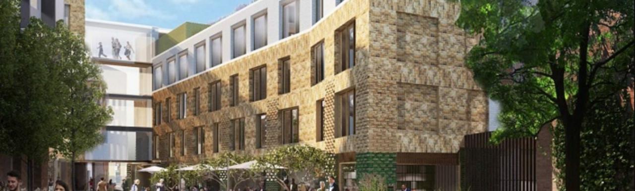 CGI of New Marlborough Yard development designed by Dexter Moren Associates.