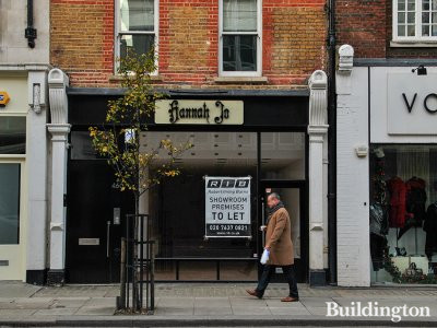 RIB advertising showroom premises to let at 46 Mortimer Street in December 2012.
