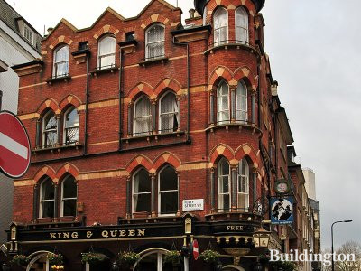 King & Queen pub at 1 Foley Street