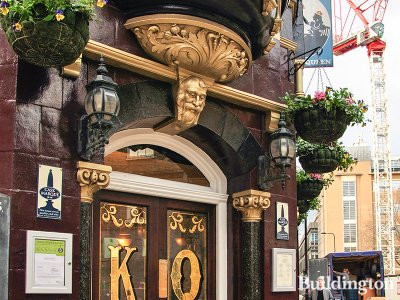 Entrance to King & Queen on Foley Street.