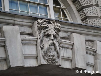 Sculpted keystone at Somerset House