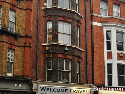 Welcome Travel at 106 Great Portland Street in London W1.