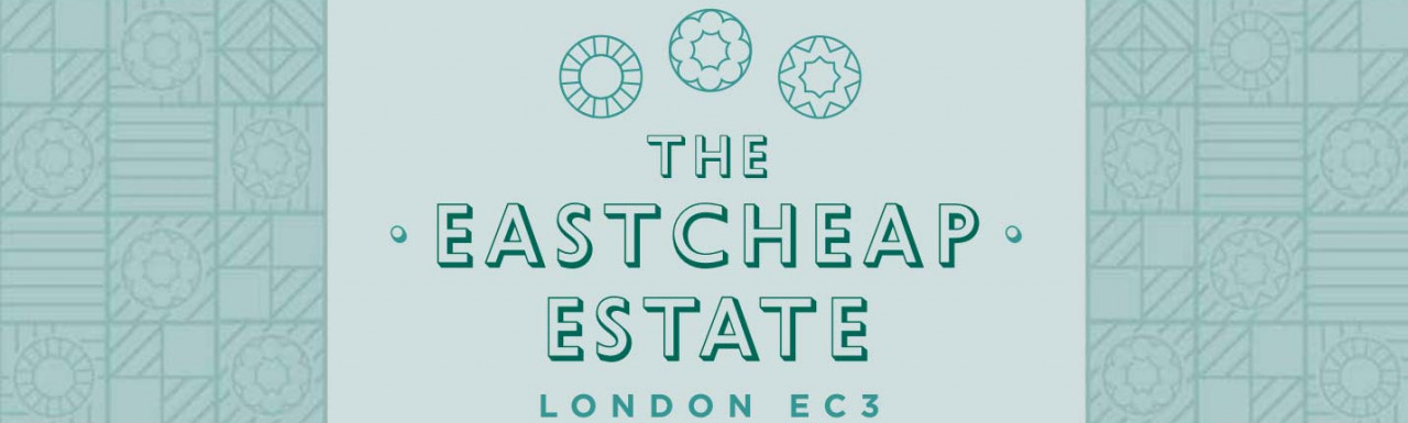 No 23-25 Eastcheap is a part of The Eastcheap Estate in the City of London EC3; screen capture of the brochure cover at thackerayestates.com.