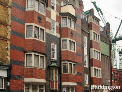 Tower House next to York House on Candover Street in Fitzrovia, London W1.