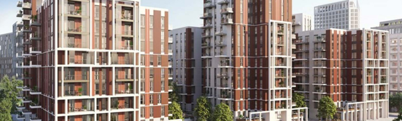 CGI of the Lexington Gardens at The Residence development designed by RMA Architects.