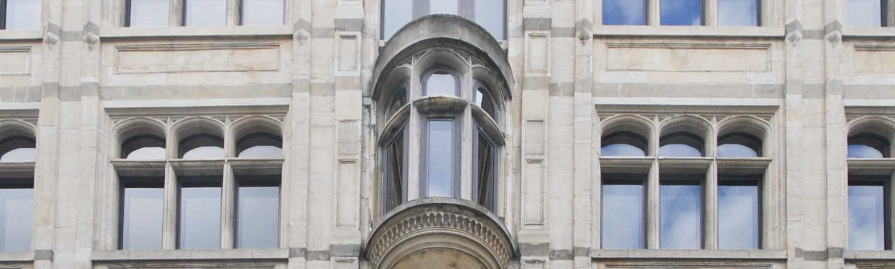 Looking up at 90 Chancery Lane