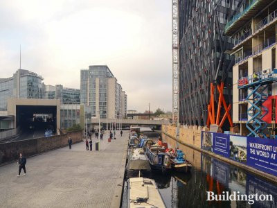 No. 3 Canalside Walk apartments have views over the canal, taxi entrance, the station entrance, Sheldon Square and Brunel Building.  15.11.2018