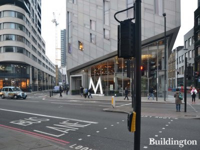 Entrance to M by Montcalm on City Road, London EC1.