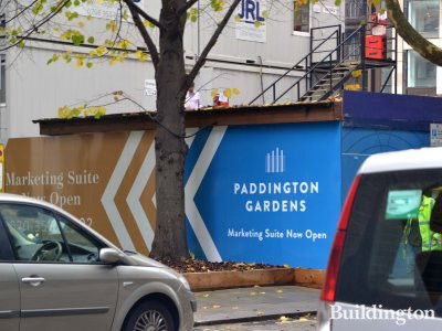 Paddington Gardens development hoarding.