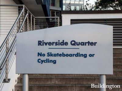 Riverside Quarter - No Skateboarding or Cycling!