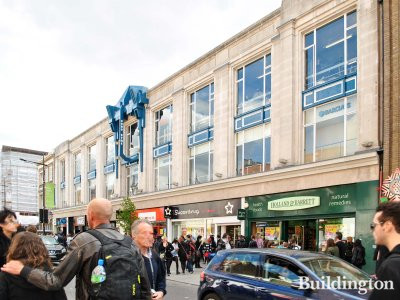 Barclays, Superdrug, Ryman, Vans and Holland & Barrett at 191-200 Camden High Street in 2012