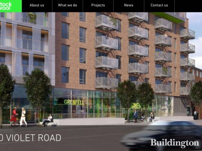 CGI of 100 Violet Road development on architect's website stockwool.co.uk.