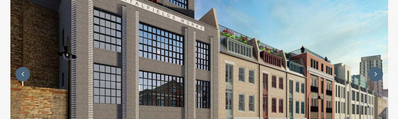 Screen capture of the Spitalfields Works website at spitalfieldsworks.uk.