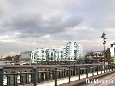 Albion Riverside - view from Chelsea Bridge.