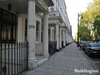 100 St George's Square Victorian terraced house in Pimlico, London SW1.