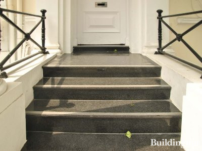 Steps at the entrance to 12 Queensborough Terrace.