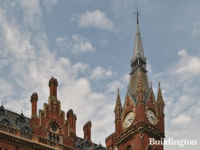 St Pancras Renaissance Hotel building in London NW1.