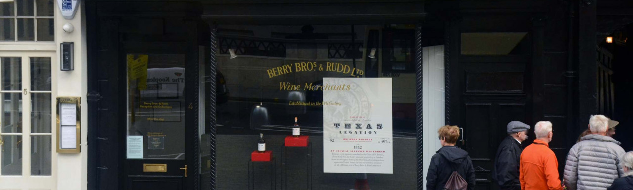 Berry Bros and Rudd Ltd at 4 St James's Street