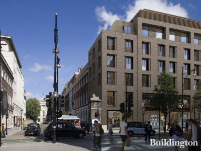 CGI of 354-358 Oxford Street building.