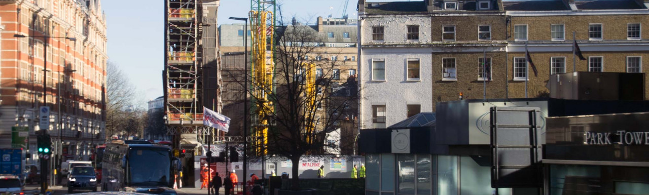55-91 Knightsbridge development under construction in January 2019.
