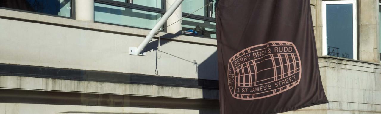 Berry Bros & Rudd flag at 62-63 Pall Mall