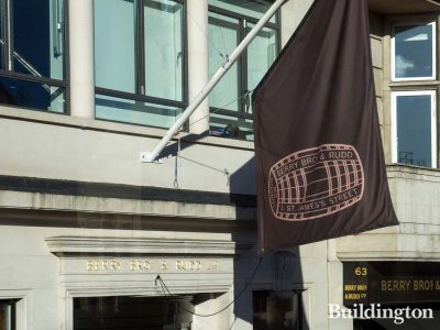 Berry Bros & Rudd flag at 62-63 Pall Mall
