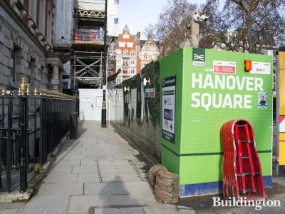 Hanover Square development from Brook Street.