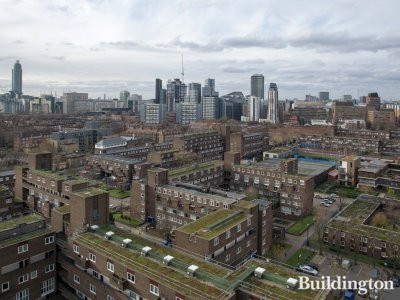 View from the balcony of a 3-bedroom apartment on the 14th floor at 3 Gundolf Street building