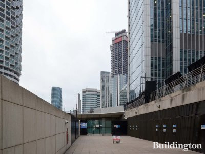 SQP South Quay Plaza under construction in January 2019.