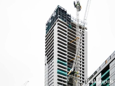 10 Park Drive tower under construction in January 2019.
