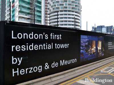 One Park Drive - London's first residential tower by Herzog & de Meuron