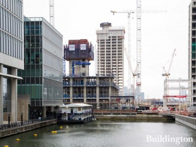 15 Water Street under construction in Wood Wharf, London E14.