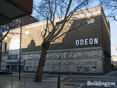 Odeon cinema building at 135-149 Shaftesbury Avenue in London WC2.