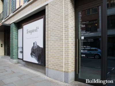 Tempted? 6 Warwick Street retail space is advertised by Savills. Offices available through CBRE and BNP Baribas Real Estate.