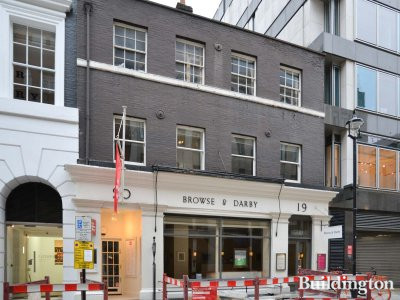 Browse & Darby art gallery at 19-20 Cork Street in Mayfair, London W1.