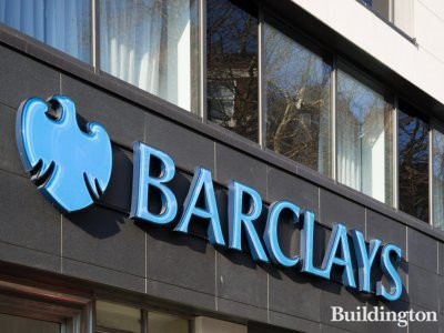 Barclays offices at Alhambra House on Charing Cross Road in London WC2.