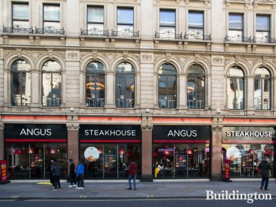 Angus Steakhouse at the 21-22 Coventry Street building in London W1.