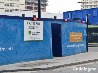 The new hotel will be right next to Paddington Gardens apartments and across the road from the Merchant Square buildings.